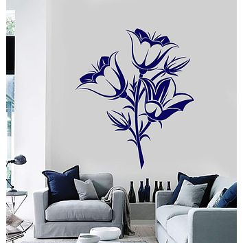 Wall Vinyl Decal Floral Flower Romantic Bedroom Living Room Decor Unique Gift z3916