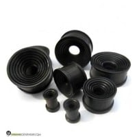 Concave Wooden Rings Tunnel Plugs (2 Gauge - 1 Inch) | UrbanBodyJewelry.com