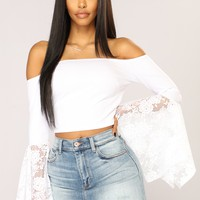Arlette Long Sleeve Top - White