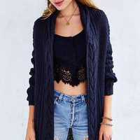 Kimchi Blue Braided Mix-Stitch Cardigan-