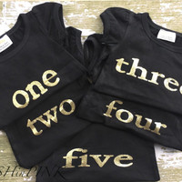 BIRTHDAY, Toddler girls black with gold lettering, Number 1, one birthday party, shirt, photo, pictures, outfit, first, 1st, chic, one, baby