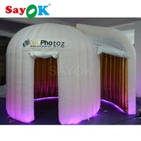 Inflatable photo booth with 2 doors
