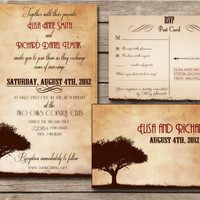 Printable Vintage Wedding Invitations Rustic Country by ABandIG