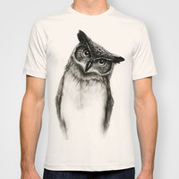 Owl Sketch T-shirt by Isaiah K. Stephens