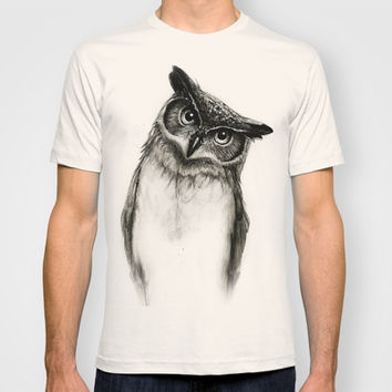 Owl Sketch T Shirt By Isaiah K Stephens From Society6