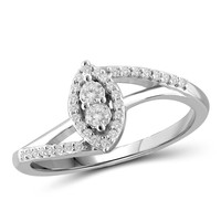 """I Love Us™ Two-Stone Ring 1/5ct tw Diamonds 14K White Gold or Yellow Gold  """"My Best friend is My true love™"""""""