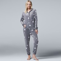 Women's Simply Vera Vera Wang Pajamas: Dream On Dreamer One-Piece Pajamas