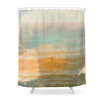 Society6 Pipeline Vs. California St. Tags: Ventura, California, Surf White, Foam, Surfing, Surfer, Tube, Wave Shower Curtains