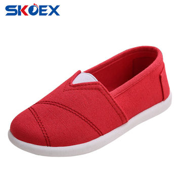 Girls Canvas Shoes Casual Slip-on Loafers Flats Spring/Autumn Children's Sneakers Kids Boys Espadrilles (Baby/Little Girl)