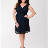 Full Figure Color Pop Lace Dress by Lane Bryant | Lane Bryant