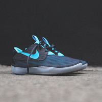 NIKE Solarsoft Moccasin - Black / Dark Grey / White | Sneaker | Kith NYC