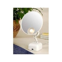 Floxite Fl-615 15x Supervision Magnifying Mirror Light, White, Frosted White