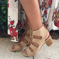 Take It All In Heel- Nude