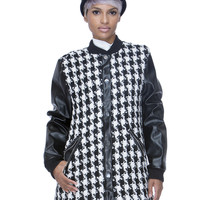 UPTOWN BOUND HOUNDSTOOTH COAT