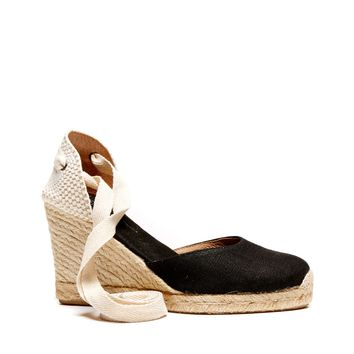 Soludos Tall Linen Wedge Espadrille Wedge