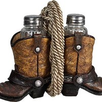 Western Boot and Rope Salt and Pepper Shaker