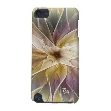 Floral Fantasy Pattern Abstract Fractal Monogram iPod Touch 5G Case