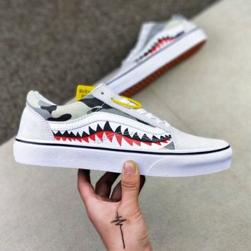 VANS XBAPE 17SS SHARK MOUTHS Fashionable casual shoes