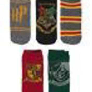 Harry Potter Hogwarts Gryffindor Slytherin Licensed - 5 Pack Socks - Sizes 4-10