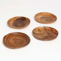 Acacia Wood Plates (Set of 4) | Nordstrom