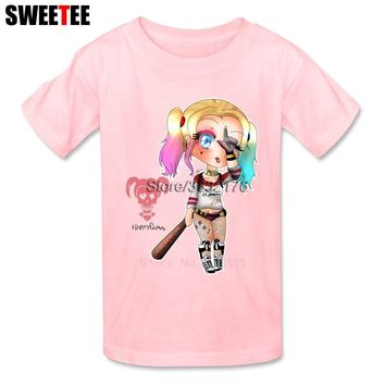 Suicide Squad Boy Girl T Shirt Baby Infant Cotton Crew Neck Kid Tshirt Children Clothing 2018 Harley Quinn T-shirt For Toddler