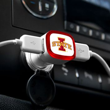 NCAA Iowa State Cyclones Car Charger, White
