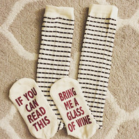 """If you can read this"" Winter Cotton Unisex Stockings [9575806351]"
