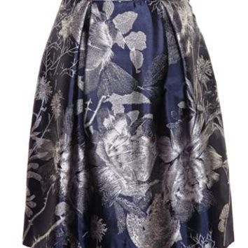 ALICE ARCHER | Beth V Jacquard Skirt | brownsfashion.com | The Finest Edit of Luxury Fashion | Clothes, Shoes, Bags and Accessories for Men & Women