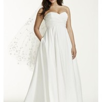 Faille Empire Waist Plus Size Wedding Dress - Davids Bridal