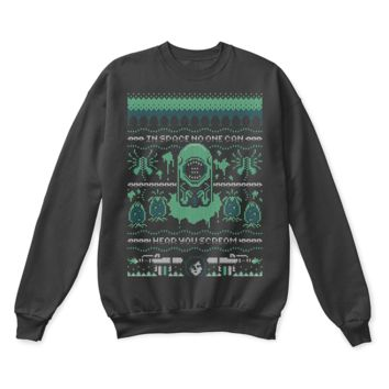 ESB8HB In Space No One Can Hear You Scream Ripley Alien Ugly Sweater