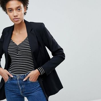 Stradivarius Black Blazer at asos.com