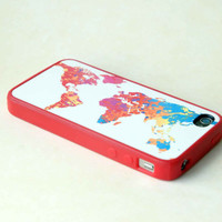 Colorful World Map Phone Case