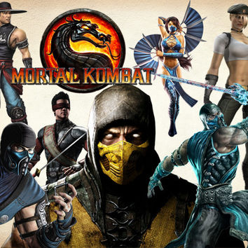 45 Mortal Kombat Clipart PNG Kombat Digital Graphic Image Mortal Clip Art Scrapbook Invitations INSTANT DOWNLOAD printable 300 dpi