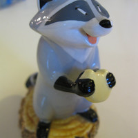 Meeko the Raccoon from Pochahontus Porcelain Figurine