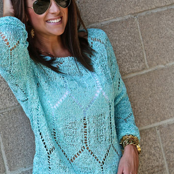 City Of Lights Sweater {Mint}