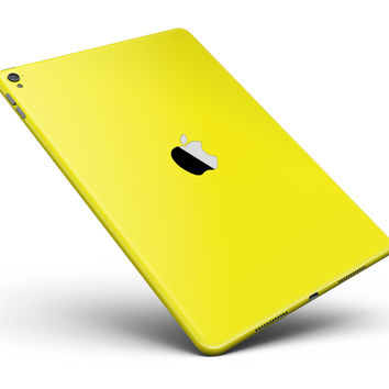 """Solid Yellow Full Body Skin for the iPad Pro (12.9"""" or 9.7"""" available)"""