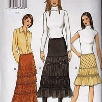 Vogue pattern 7643 Romantic Skirts in 3 lengths 3 styles Out of Print