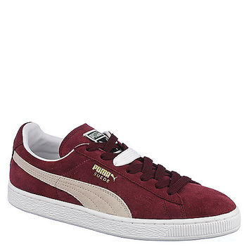 Puma Suede Classic+ Men's Burgundy Casual Lace-Up Sneakers | Shiekh Shoes