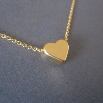 Fashion Tiny Heart Chain Necklaces Pendants Gold Silver Rose Red Color Chain Love Heart Chain Gifts for Women Girls Jewelry