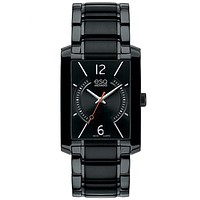 ESQ Movado Mens Synthesis Watch - Black Dial - Black Ion-Plated