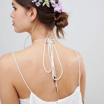 ASOS DESIGN Floral Bloom Garland Back Hair Clip at asos.com