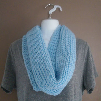 One Loop Infinity Scarf Cowl Womens Warm Lightweight Knitted Infinity Scarf for Winter