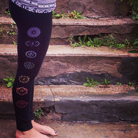 Kundalini Chakra Dri-More Ankle Yoga Leggings.