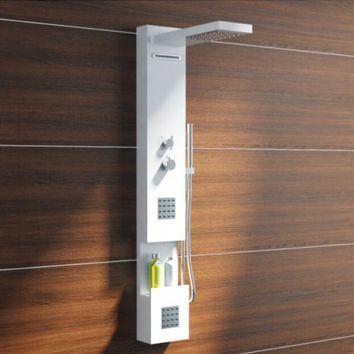 Thermostatic Solid surface stone shower panel wall mounted shower column Body massage Jets Sprinkler  RS0034