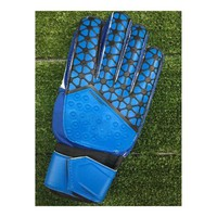Latex Goalkeeper Gloves Roll Finger   blue  8