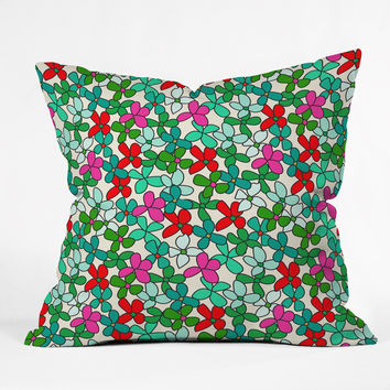 Holli Zollinger Bouquet Light Outdoor Throw Pillow