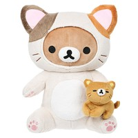 Rilakkuma Cat Playing with Kitty 10 Inch Plush