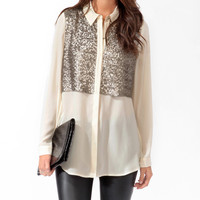 Sequined Tunic Shirt