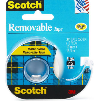 3M Scotch Magic Tape Removable 811 3/4 in. x 18 yd. dispenser roll