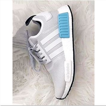 """""""ADIDAS"""" Women Running Sport Casual NMD Shoes Sneakers Blue-Grey"""